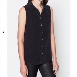 Equipment SLEEVELESS SLIM SIGNATURE SILK TOP- NWT